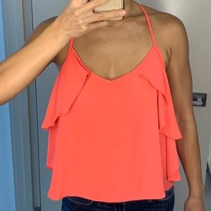 Forever 21 Coral Racerback Tank M